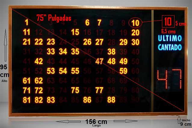 pantalla grande bingo