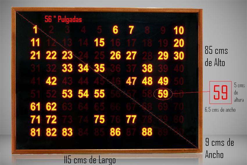 pantalla mediana bingo