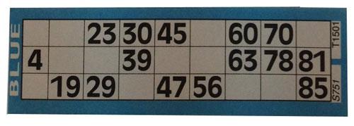 carton bingo papel