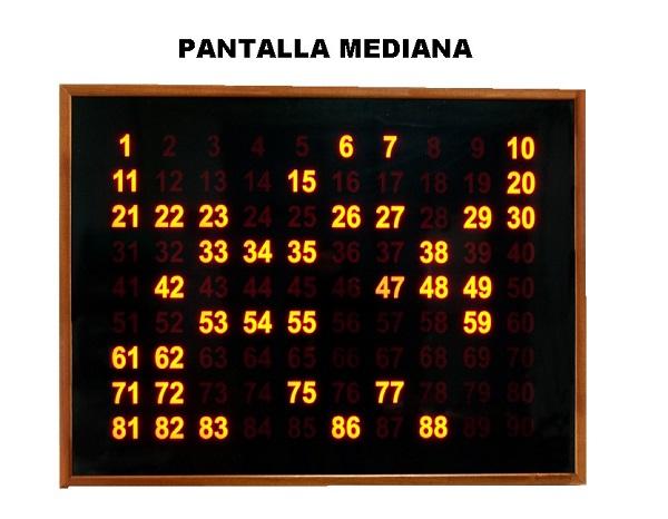 pantalla bingo mediana