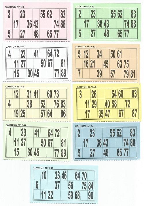 Cartones De Bingo Bingo Social